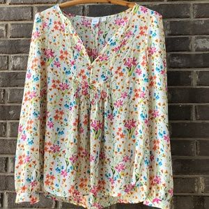 XS Floral Blouse by Gap